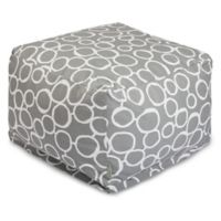 Majestic Home Goods Fusion Bean Bag Ottoman in Grey