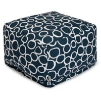 Majestic Home Goods Fusion Bean Bag Ottoman in Navy