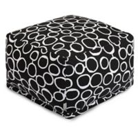 Majestic Home Goods Fusion Bean Bag Ottoman in Black
