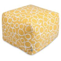 Majestic Home Goods Fusion Bean Bag Ottoman in Yellow