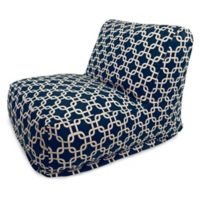 Majestic Home Goods Links Bean Bag Chair Lounger in Navy Blue