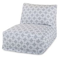 Majestic Home Goods Links Bean Bag Chair Lounger in Grey