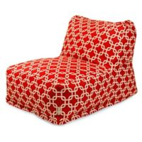 Majestic Home Goods Links Bean Bag Chair Lounger in Red