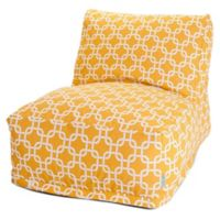 Majestic Home Goods Links Bean Bag Chair Lounger in Yellow