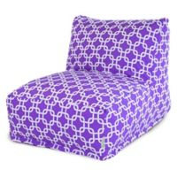 Majestic Home Goods Links Bean Bag Cotton Chair Lounger in Purple