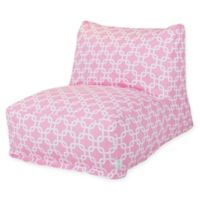 Majestic Home Goods Links Bean Bag Cotton Chair Lounger in Soft Pink
