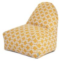 Majestic Home Goods Links Bean Bag Kick-It Chair in Yellow