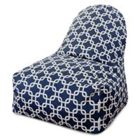 Majestic Home Goods Links Bean Bag Kick-It Chair in Navy Blue