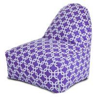 Majestic Home Goods Links Bean Bag Kick-It Chair in Purple