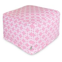 Majestic Home Goods Links Bean Bag Cotton Twill Ottoman in Soft Pink