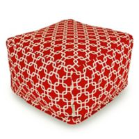 Majestic Home Goods Links Bean Bag Ottoman in Red