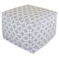 Majestic Home Goods Links Bean Bag Ottoman in Grey
