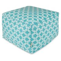 Majestic Home Goods Links Bean Bag Ottoman in Teal