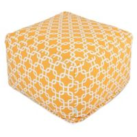 Majestic Home Goods Links Bean Bag Ottoman in Yellow