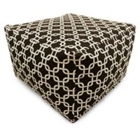Majestic Home Goods Links Bean Bag Ottoman in Black