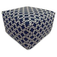 Majestic Home Goods Links Bean Bag Ottoman in Navy Blue