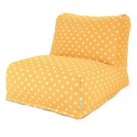 Majestic Home Goods Ikat Dot Bean Bag Chair Lounger in Citrus