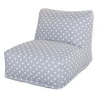 Majestic Home Goods Ikat Dot Bean Bag Chair Lounger in Grey
