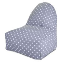 Majestic Home Goods Ikat Dot Bean Bag Kick-It Chair in Grey