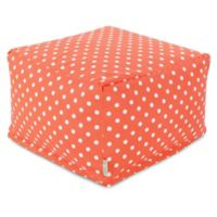 Majestic Home Goods Ikat Dot Bean Bag Ottoman in Orange