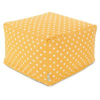 Majestic Home Goods Ikat Dot Bean Bag Ottoman in Citrus