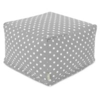 Majestic Home Goods Ikat Dot Bean Bag Ottoman in Grey