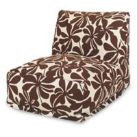 Majestic Home Goods Plantation Bean Bag Chair Lounger in Chocolate