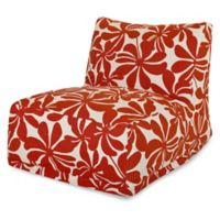 Majestic Home Goods Plantation Bean Bag Chair Lounger in Red