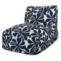 Majestic Home Goods Plantation Bean Bag Chair Lounger in Navy