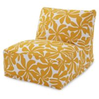 Majestic Home Goods Plantation Bean Bag Chair Lounger in Yellow