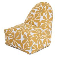 Majestic Home Goods Plantation Bean Bag Kick-It Chair in Yellow