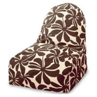 Majestic Home Goods Plantation Bean Bag Kick-It Chair in Chocolate