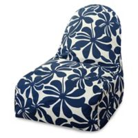 Majestic Home Goods Plantation Bean Bag Kick-It Chair in Navy Blue
