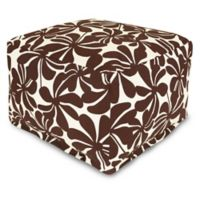 Majestic Home Goods Plantation Bean Bag Ottoman in Chocolate