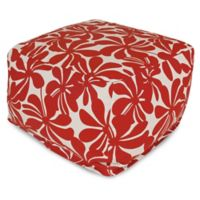 Majestic Home Goods Plantation Bean Bag Ottoman in Red