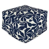 Majestic Home Goods Plantation Bean Bag Ottoman in Navy Blue