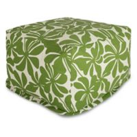 Majestic Home Goods Plantation Bean Bag Ottoman in Sage