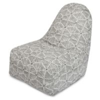 Majestic Home Goods Charlie Bean Bag Kick-It Chair in Grey