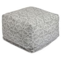 Majestic Home Goods Charlie Bean Bag Ottoman in Grey