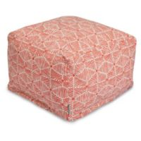 Majestic Home Goods Charlie Bean Bag Ottoman in Salmon