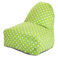 Majestic Home Goods Small Polka Dot Bean Bag Kick-It Chair in Lime