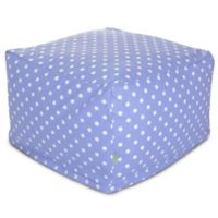 Majestic Home Goods Small Polka Dot Bean Bag Ottoman in Lavender