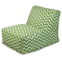 Majestic Home Goods Chevron Bean Bag Chair Lounger in Sage