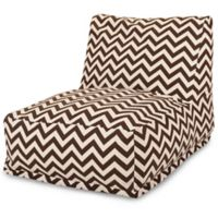 Majestic Home Goods Chevron Bean Bag Chair Lounger in Chocolate