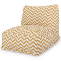 Majestic Home Goods Chevron Bean Bag Chair Lounger in Yellow