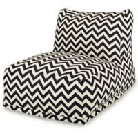 Majestic Home Goods Chevron Bean Bag Chair Lounger in Black