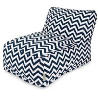 Majestic Home Goods Chevron Bean Bag Chair Lounger in Navy