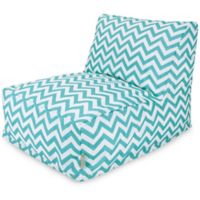 Majestic Home Goods Chevron Bean Bag Chair Lounger in Teal