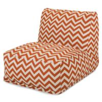 Majestic Home Goods Chevron Bean Bag Chair Lounger in Burnt Orange