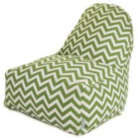 Majestic Home Goods Chevron Polyester Bean Bag Kick-It Chair in Sage